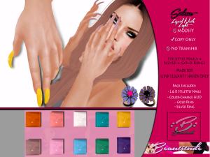 Beautitude Elegant1 Liquid Stiletto Nails AD