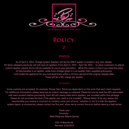 Beautitude Store Policy 2