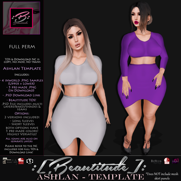 Beautitude Ashlan Outfit Template AD
