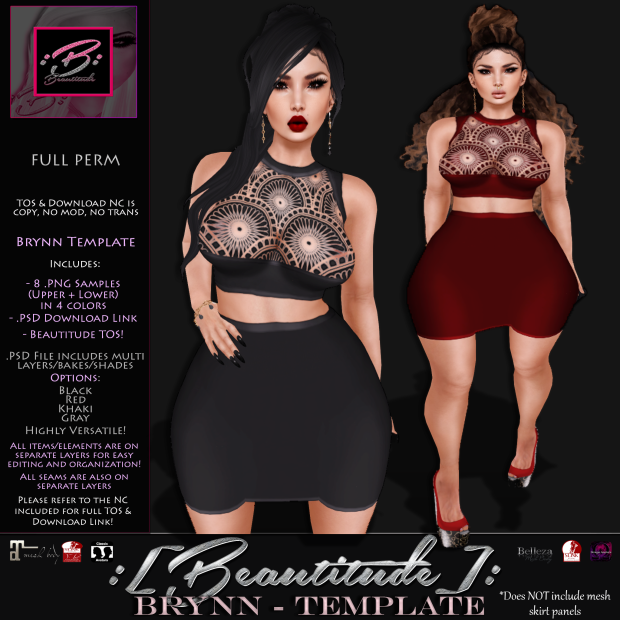 Beautitude Brynn Outfit Template AD