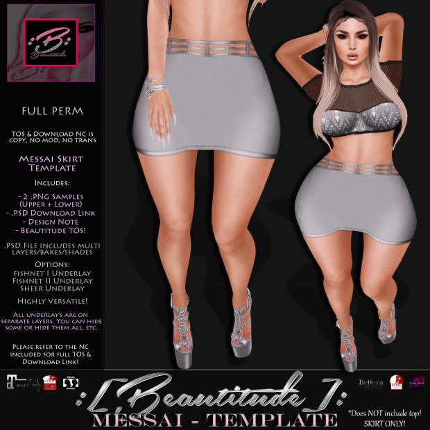 Beautitude Messai Skirt Template AD