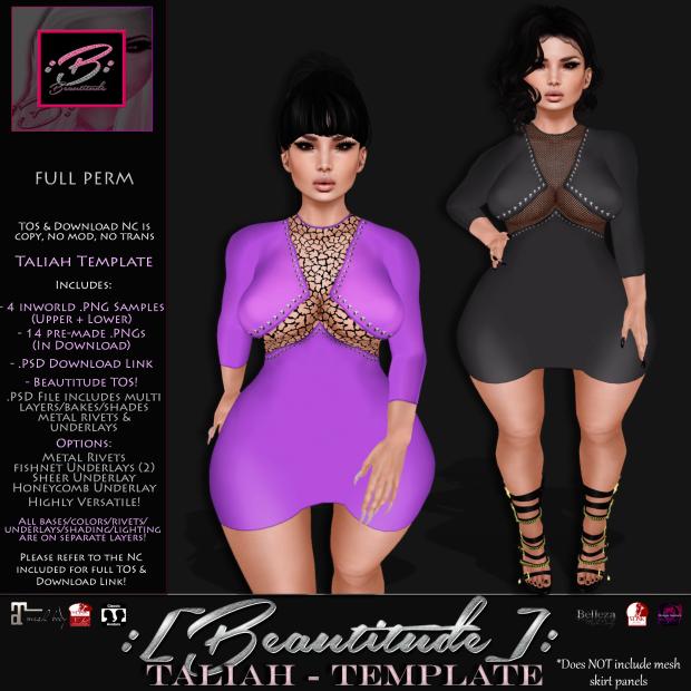 Beautitude Taliah Dress Template AD